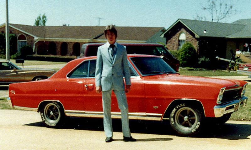 Old skool....Don and his first car 1966 Chevy II